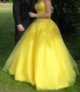Gorgeous Yellow Prom Dress