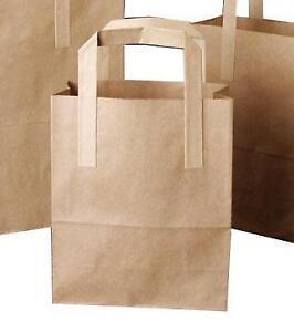 Brown Paper Bags Paper Carrier Bags Ebay