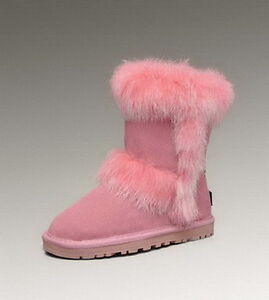 Fox Fur Short 5281 Kids Pink-UGG Boots