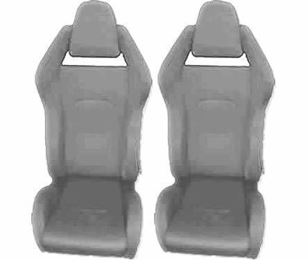 PAIR OF SPORTS RACING RALLY SEAT BUCKET FABRIC SEAT ITALIAN GREY RACE CHAIR