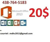 Microsoft Office Professionnel  Plus 2016--2013--office 2016 mac