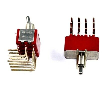 4PDT On/On, Toggle Switch,