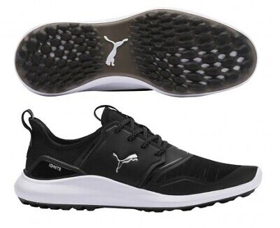 Puma Mens Ignite NXT Lace Spikeless Golf Shoe Black/Silver 192225 - Pick Size