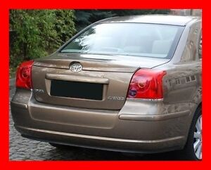 toyota avensis 2 ii t25 saloon rear boot spoiler tuning gt. Black Bedroom Furniture Sets. Home Design Ideas