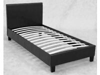single leather bed (frame only)