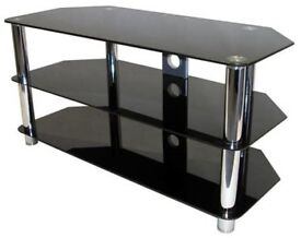 SELLING Black and Silver glass TV Unit- Large