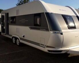 2017 Hobby prestige 650 UMFE 23ft 4weeks old, never used, half leather , oven/hob,fixed bed as new