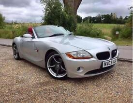 BMW Z4 3.0i 2dr Auto - Full Red Leather - Immaculate - Hard To Find This Good !! (silver) 2003