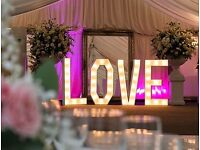 Giant LOVE LETTERS for hire (big discount if you hire one of our Photo Booths)