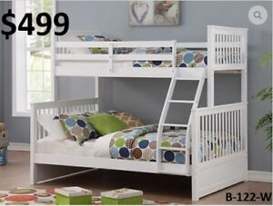 MIKES GOT NEW SINGLE/DOUBLE BUNK BEDS MANY COLOURS ONLY $499