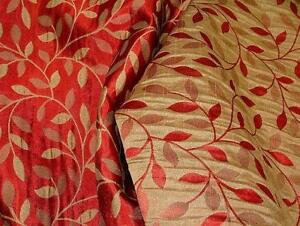 Designer Upholstery Fabric Red