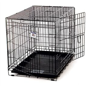 LARGE DBL-DR COLLAPSABLE DOG CRATE