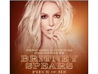 Britney Spears Piece of Me Tour Tickets - Manchester Saturday 18 Aug 2018