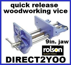 New Rolson 9in 225mm  Quick Release Wood Working Bench Vice