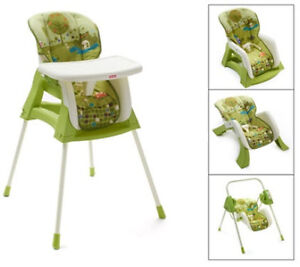 FISHER PRICE 4 in 1 high chair, swing, toddler &infant seat$150