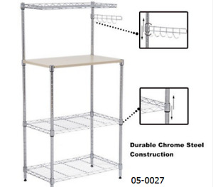 Metal bakers corner shelving rack TAX INCL