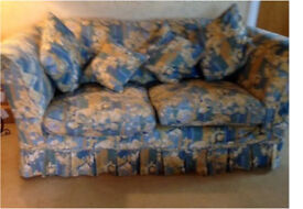 Sofa with feather cushions from Liberty