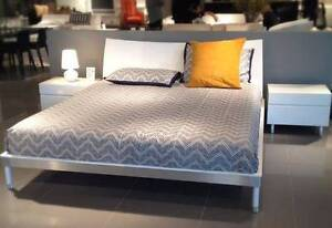 BEYOND FURNITURE WAVE BED QUEEN SIZE WHITE - IMMACULATE Chatswood Willoughby Area Preview