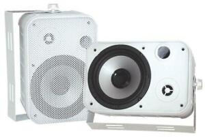 PYLE PDWR50W 6.5 Indoor/Outdoor Waterproof Speakers (White)