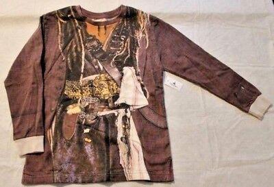 Disney Parks Pirates Caribbean Long Sleeve Costume Shirt Jack Sparrow NWT Boys L - Jack Sparrow Disney Costume