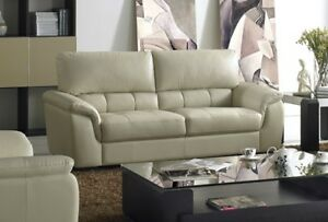 """Quality is our promise""Genuine Leather Sofa"