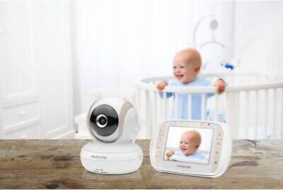 Motorola MBP35XLC Digital Audio and Video Baby Monitor, White
