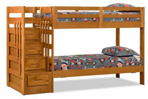 Ponderosa Staircase Bunk Bed with New Mattress - 1100 obo