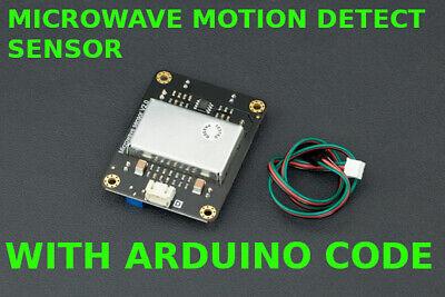 With Software Digital Microwave Doppler Sensor Motion Detection For Arduino