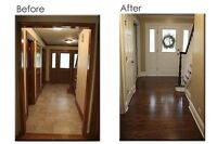 Painting - Walls, trim, cabinets, ceilings.