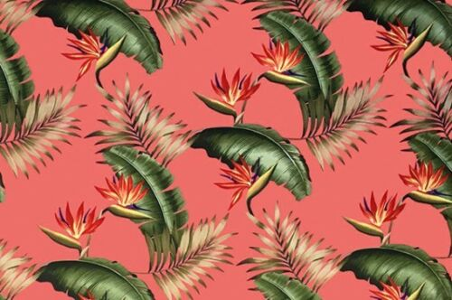 Tropical Hawaiian 100% Cotton Barkcloth Upholstery FABRIC ~Lani-Melon~