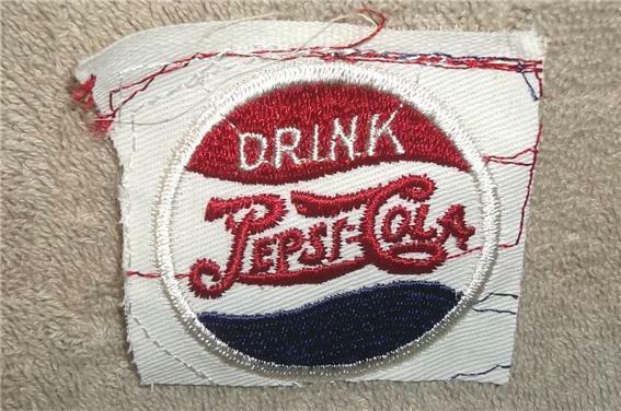 RARE ORIGINAL VINTAGE DRINK PEPSI COLA DOUBLE DOT EMBROIDERED EMBLEM PATCH ~ NOS