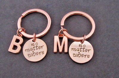 Moving away Gift Best Friend Keychain No matter where Bff Long Distance (Best Moving Away Gifts)