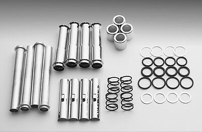 CHROME PUSHROD COVER KIT FOR HARLEY EVOLUTION 84-99 TUBES WASHERS COVERS CLIPS