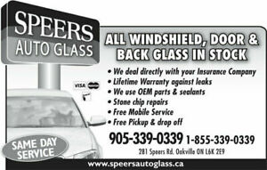 Auto Glass Oakville, Milton, Hamilton Area - From $175 +Warranty