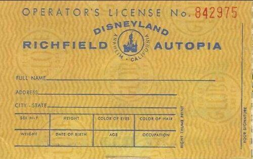 Disneyland Richfield Autopia Driver
