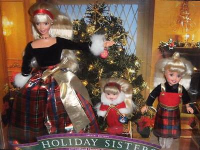 Holiday Sisters Gift Set Barbie Kelly Stacie Doll Christmas 1999
