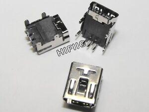 10PCS-5-Pin-Female-Mini-USB-DIP-Socket-Connector