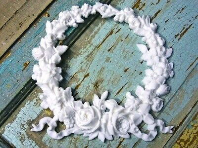 SHABBY & CHIC ROSE WREATH / FURNITURE APPLIQUES / LOWEST PRICES