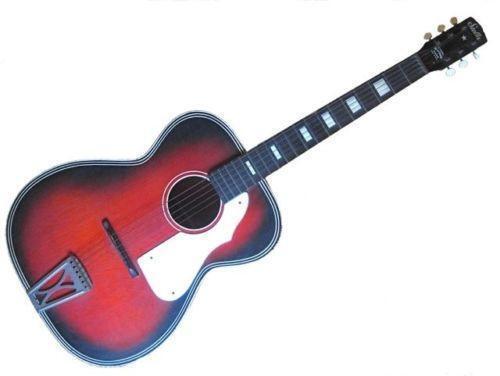 vintage stella harmony acoustic guitar ebay. Black Bedroom Furniture Sets. Home Design Ideas