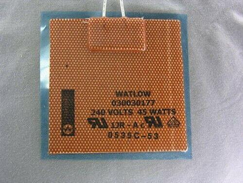 """2 Watlow 3"""" Sq. 240VAC 45W 500F Flexible Heater Pad"""
