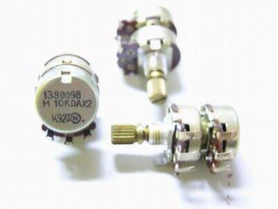 10 Audio Taper Potentiometers 10k Ohm 14 Knurled Split Shaft