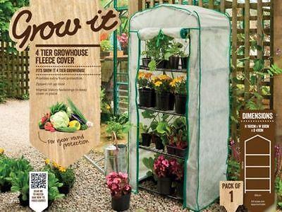 """Gardman Grow it 4 Tier Mini Greenhouse """"Fleece Cover"""" - FREE SHIPPING"""