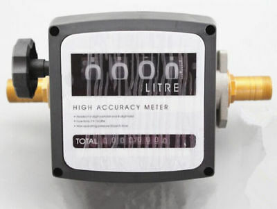 4 Digital Diesel Fuel Oil Flow Meter Counter High Accuracy 1 Free Shipping
