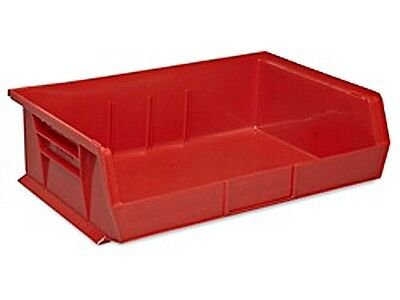 Red Stackable Storage Bin 11l X 16-12w X 5h - Lot Of 6  S-13537r