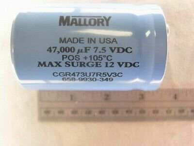 Mallory Cgr 47000 Uf 7.5v Electrolytic Capacitor