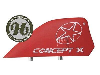Concept X Kite Kiteboard Finne Kitefin Fin 5cm G10 ROT… |