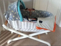Baby k mothercare Moses basket and stand