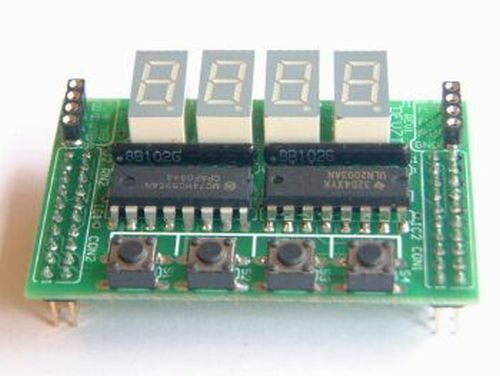 Compact Daughter Board: 4-digit LED Display for PIC Boards