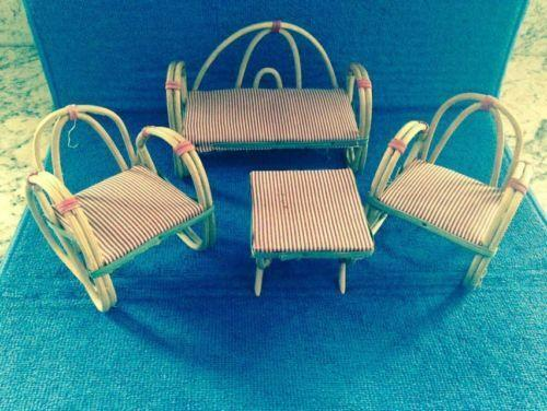 Dollhouse Miniature Patio Furniture Ebay