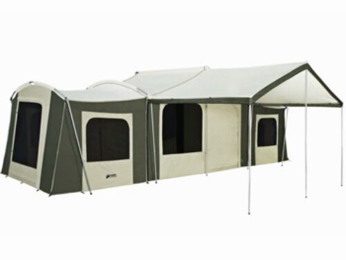 KODIAK GRAND CABIN 26 X 8 12 PERSON CAMPING TENT  DELUXE AWNING & WALL ENCLOSURE